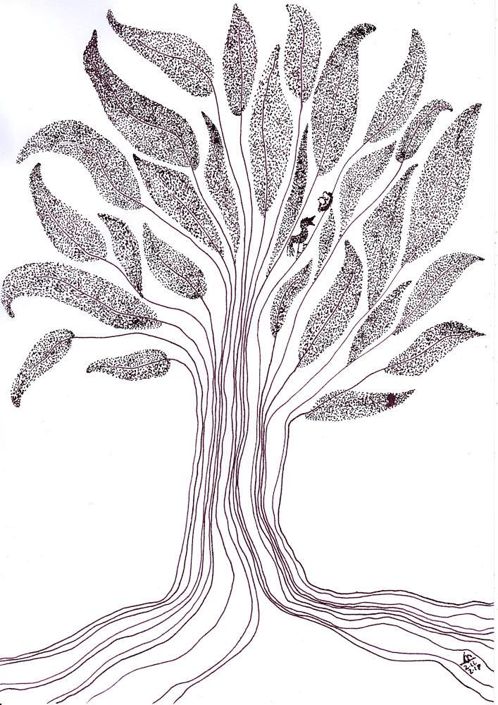 gezeichneter Baum